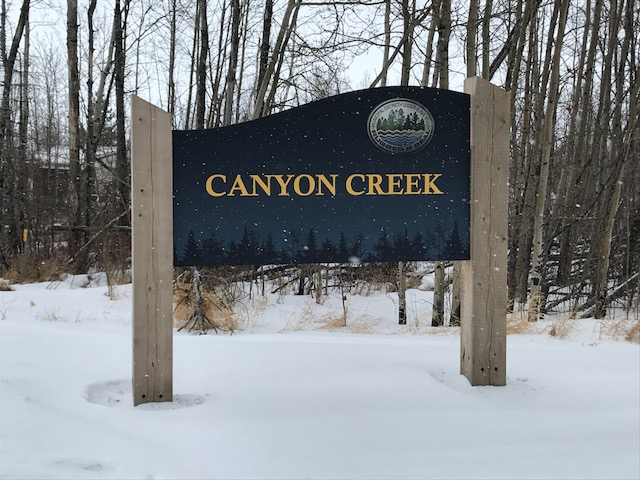 The Canyon Creek sign