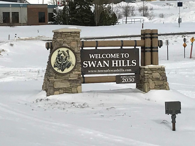 The Swan Hills sign