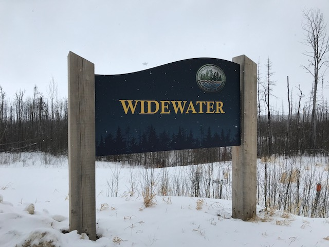 The Widewater sign